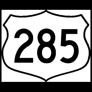 Highway 285 Sign Sticker