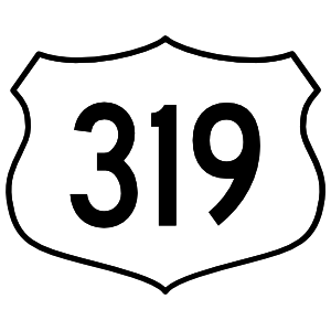 Highway 319 Sign Sticker