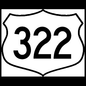 Highway 322 Sign Sticker