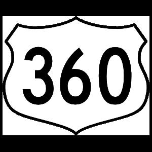 Highway 360 Sign Sticker