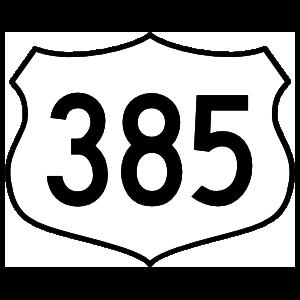 Highway 385 Sign Magnet