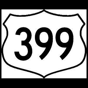Highway 399 Sign Magnet
