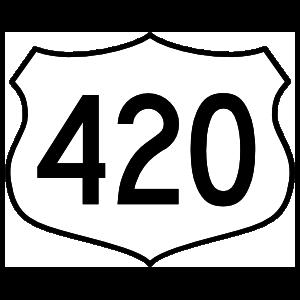 Highway 420 Sign Sticker