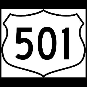 Highway 501 Sign Magnet