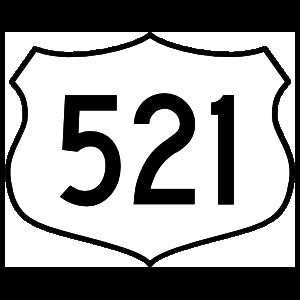 Highway 521 Sign Sticker