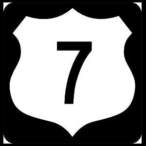 Highway 7 Sign With Black Border Magnet