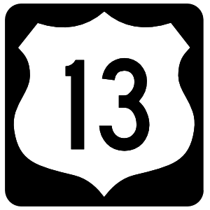 Highway 13 Sign With Black Border Magnet