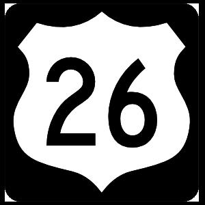 Highway 26 Sign With Black Border Magnet