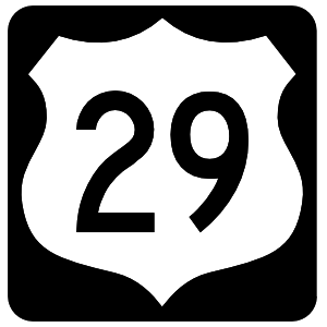 Highway 29 Sign With Black Border Sticker