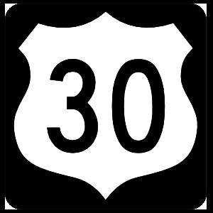 Highway 30 Sign With Black Border Magnet