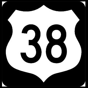 Highway 38 Sign With Black Border Magnet
