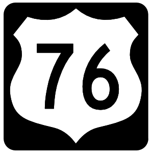 Highway 76 Sign With Black Border Magnet