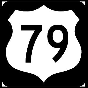 Highway 79 Sign With Black Border Magnet