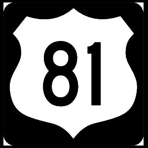 Highway 81 Sign With Black Border Magnet