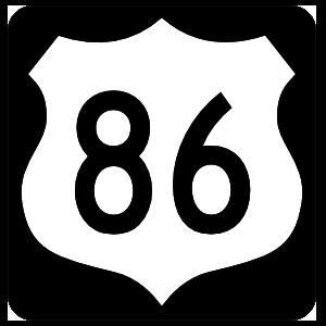 Highway 86 Sign With Black Border Magnet