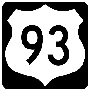 Highway 93 Sign With Black Border Sticker