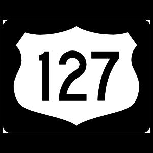Highway 127 Sign With Black Border Magnet