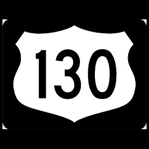 Highway 130 Sign With Black Border Sticker