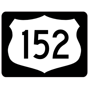 Highway 152 Sign With Black Border Magnet