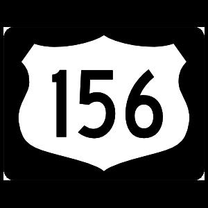 Highway 156 Sign With Black Border Magnet