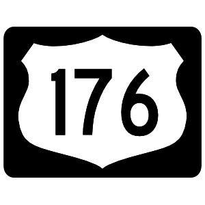 Highway 176 Sign With Black Border Magnet
