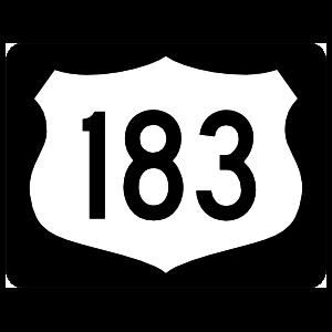 Highway 183 Sign With Black Border Magnet