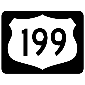 Highway 199 Sign With Black Border Sticker