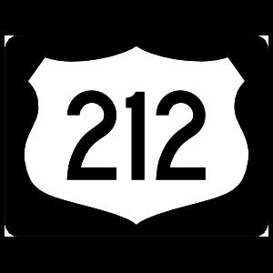 Highway 212 Sign With Black Border Magnet