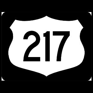 Highway 217 Sign With Black Border Magnet