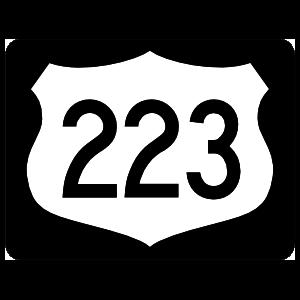 Highway 223 Sign With Black Border Magnet