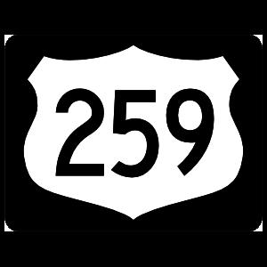 Highway 259 Sign With Black Border Magnet