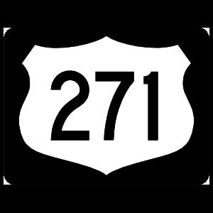 Highway 271 Sign With Black Border Magnet
