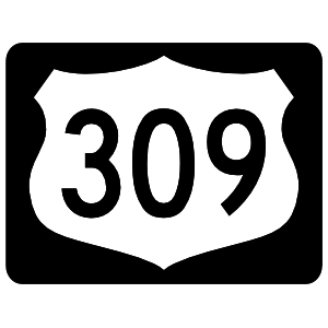 Highway 309 Sign With Black Border Magnet