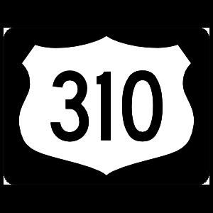Highway 310 Sign With Black Border Magnet