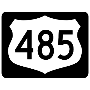 Highway 485 Sign With Black Border Sticker