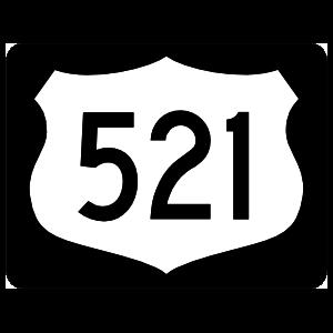 Highway 521 Sign With Black Border Magnet