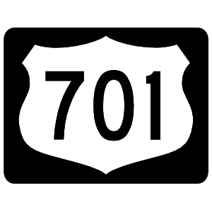 Highway 701 Sign With Black Border Magnet