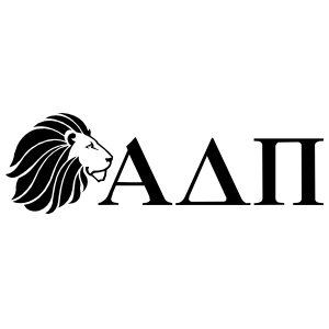 Alpha Delta Pi Lion And Letters One-Color Cut-Out Sticker