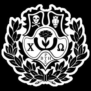 Chi Omega Crest Die Cut Sticker