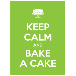 Keep Calm And Bake A Cake Magnet