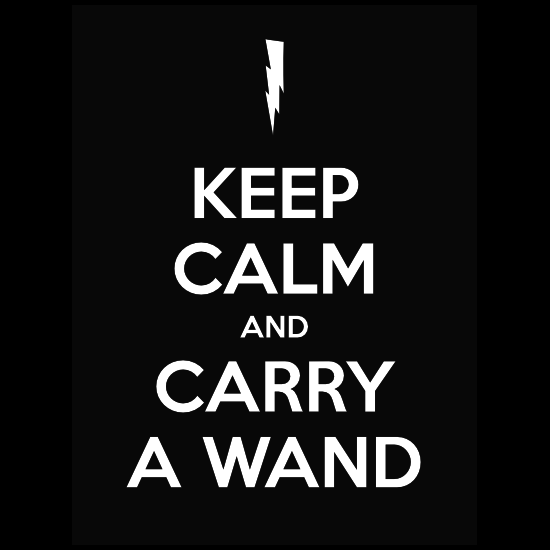 Keep Calm And Carry A Wand Sticker