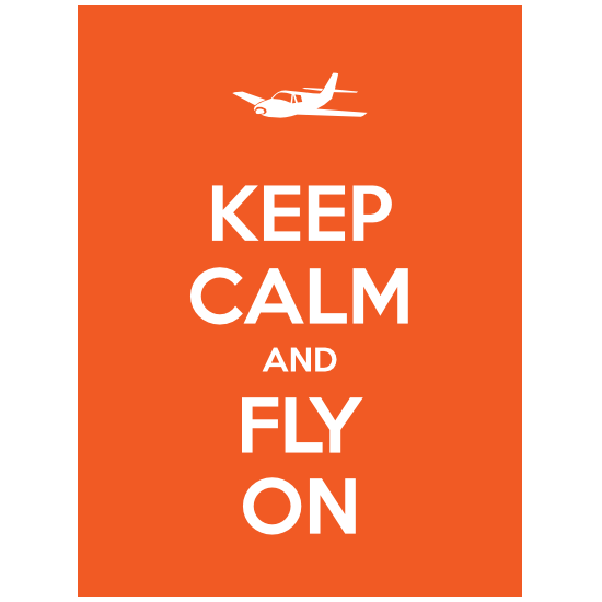 Keep Calm And Fly On Magnet