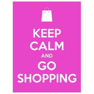 Keep Calm And Go Shopping Sticker
