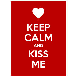 Keep Calm and Kiss Me Magnet