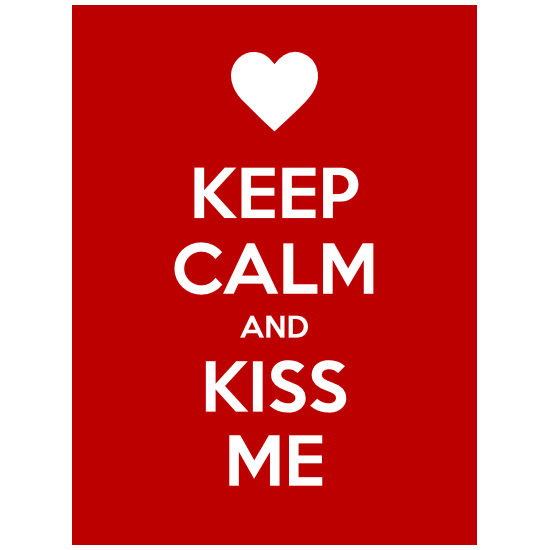 Keep Calm And Kiss Me Magnet