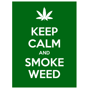 Keep Calm And Smoke Weed Magnet
