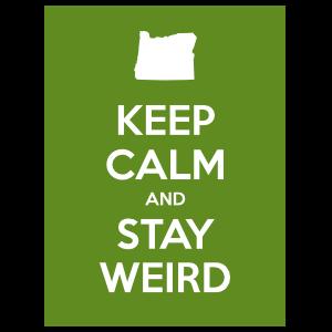 Keep Calm And Stay Weird Sticker
