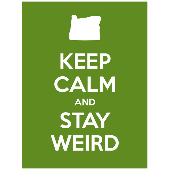 Keep Calm And Stay Weird Magnet