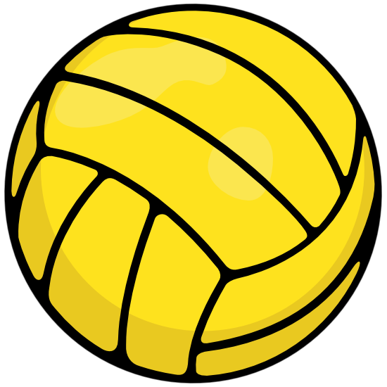 Water Polo Ball Printed Full Color Sticker