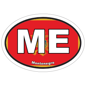 Montenegro Me Flag Oval Magnet